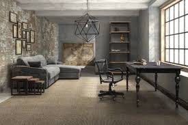 grey home office. Grey Walls Industrial Home Office Design