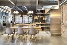 lighting for lofts. Loft Style Simple 8 Dining Table, Pendant Lighting, Home In Terrassa, Spain. » Lighting For Lofts