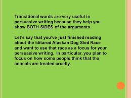 persuasive essay format introduction ppt 10 transitional words are very useful in persuasive