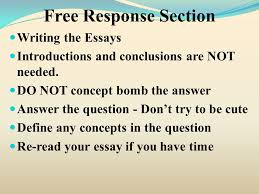 response section test structure response essay response section writing the essays