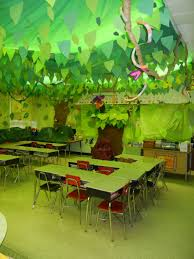 Jungle Decoration Cool Classroom Decoration Ideas With Ceiling Jungle Leaf Tips To