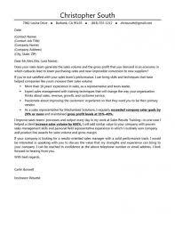 Cover Letter Sample For Sales Job
