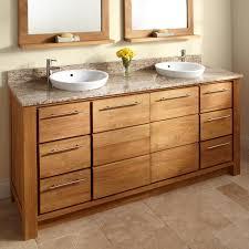 72 venica teak double vanity for semi recessed sinks double sink vanities