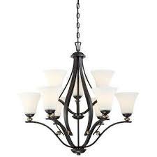 shadowglen 9 light lathan bronze chandelier