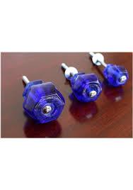 1 25 inch cobalt blue glass cabinet knobs pulls dresser drawer hardware 25 pcs the kings bay