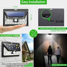 How To Install A Security Light From Scratch Litom Solar Lights Outdoor Wireless 24 Led Motion Sensor