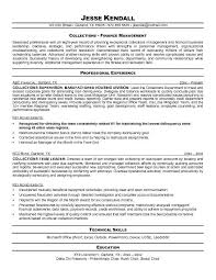 Collections Resume Examples - Examples of Resumes