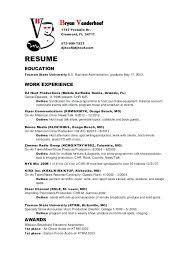 Resume For Radio Jockey A Good Resume Example