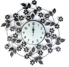 Small Picture floral wall clock artistic iron flower design