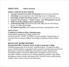 Office Admin Resume Samples Sample Office Assistant Resume 9 Download Free Documents