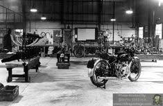 the vincent motorcycle factory at stevenage in the late 1940 s riding vine vincent motorcycle