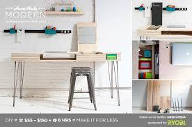 homemade modern diy the flip desk postcard