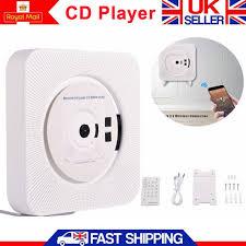 bluetooth wall mounted player hifi stereo audio cd aux usb radio white