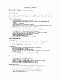 Resume For Retail Job Best Of Retail Duties For Resume Elegant Retail Sales Associate Job