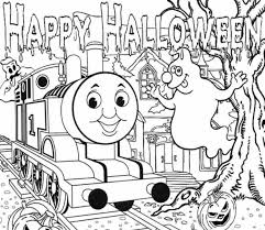 Small Picture Halloween Full Page Thomas The Train Coloring Pages Hallowen