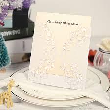 Elegant Invitation Cards 10x Laser Cut Elegant Invitation Cards Set For Wedding Bridal Shower Birthday Beige Envelope Hollow Card Holder Inner Sheet Delicate Carved Flowers