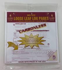 Truck Log Book For Sale J J Keller 615mp Duplicate Mid Size Loose Leaf Drivers Log Carbonless