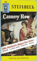 cannery row steinbeck in the schools san jose state university cannery row cover art
