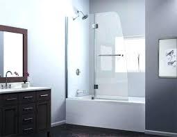 frameless bathtub door swing tub with regard to ideas 17