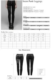 Punk Rave Size Chart Punk Rave Womens Goth Lacing Leggings With Straps Wk374ddf