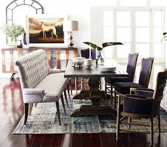 dining room table with upholstered bench. French Tufted Upholstered Dining Bench Banquette Room Table With L