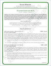Sample Resume For Assistant Teacher