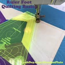 The Free Motion Quilting Project: Quilting Basics 13: Ruler Foot ... & A ruler or template basically acts as a guide for the foot. As you push the  ruler, plus quilt through the machine, it gives you a guide to keep the  foot in ... Adamdwight.com