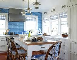 Kitchen Blue Tiles Design
