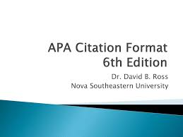 Ppt Apa Citation Format 6th Edition Powerpoint Presentation Id