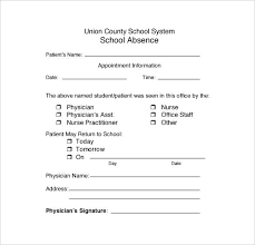Doctor Notes For Work Free Return To School Doctors Note Nasiloluyo Co