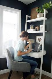 ideas for small office space. Create A Stylish, Productive Little Nook, Even When Space Is Tight, With Our Chic, Modern Home Office Ideas For Small Spaces From Sawyer White Leaning Wall N