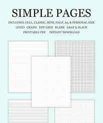 Printable Planner Pages Lined Note Pages Dot Grid Graph
