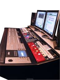 studio desk with add your own euphonix system and hardware i love these custom desks especially those with built in 500 series racks not pictured