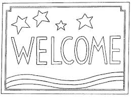 600 x 451 15 0 welcome sign coloring page mat clipart color clip black and white stock