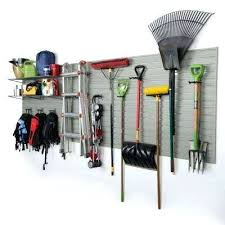 garden tool hangers for garage modular wall panel storage set with accessories in silver piece garage wall hangers o28