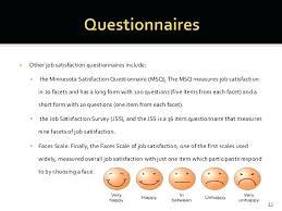 Template Questionnaire Word Employee Job Satisfaction Questionnaire Template