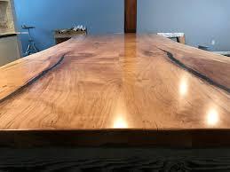 live edge maple countertop for silvana