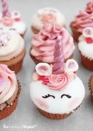 Unicorn Cupcakes Recipe The Little Blog Of Vegan