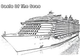 Excellent Cruise Ship Coloring Page For With Cruise Ship Coloring