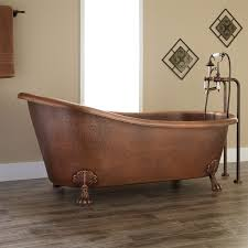 66 donnelly hammered copper clawfoot slipper tub bathroom