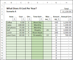 savings excel spreadsheet calculate annual costs and savings in excel contextures blog