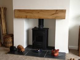 air dried oak mantel in a new style modern home