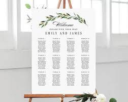 Standard Seating Chart Size 7 Sizes Wedding Seating Chart Template Editable Wedding