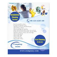 Cleaning Brochure Residential Cleaning Service Flyer