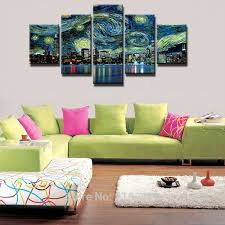 <b>5 Pieces HD Print</b> Painting Geometric Abstract Landscape Picture ...