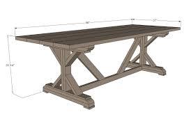 diy outdoor farmhouse table. Dining:Ana White Fancy X Farmhouse Table Diy Projects Dining Plans How To Create Outdoor A