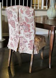 skirted dining room chair can be made in any fabric slipcover detailing