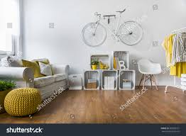 comfortable big living room living. Wooden Parquet In Big Living Room With Comfortable White Sofa And Vintage Decorations I