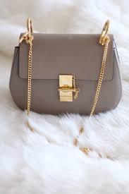 Chloe Designer Bags New In Chloe Drew Bag In Grey Small Leather Gold