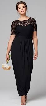 Designer Clothes For Wedding Guests Amazing Plus Size Wedding Guest Dress With Sleefe 45 Full